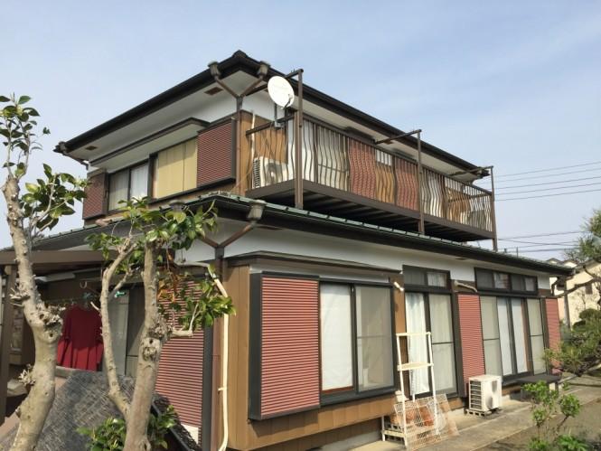屋根重ね葺き/軒天・漆喰塗装工事