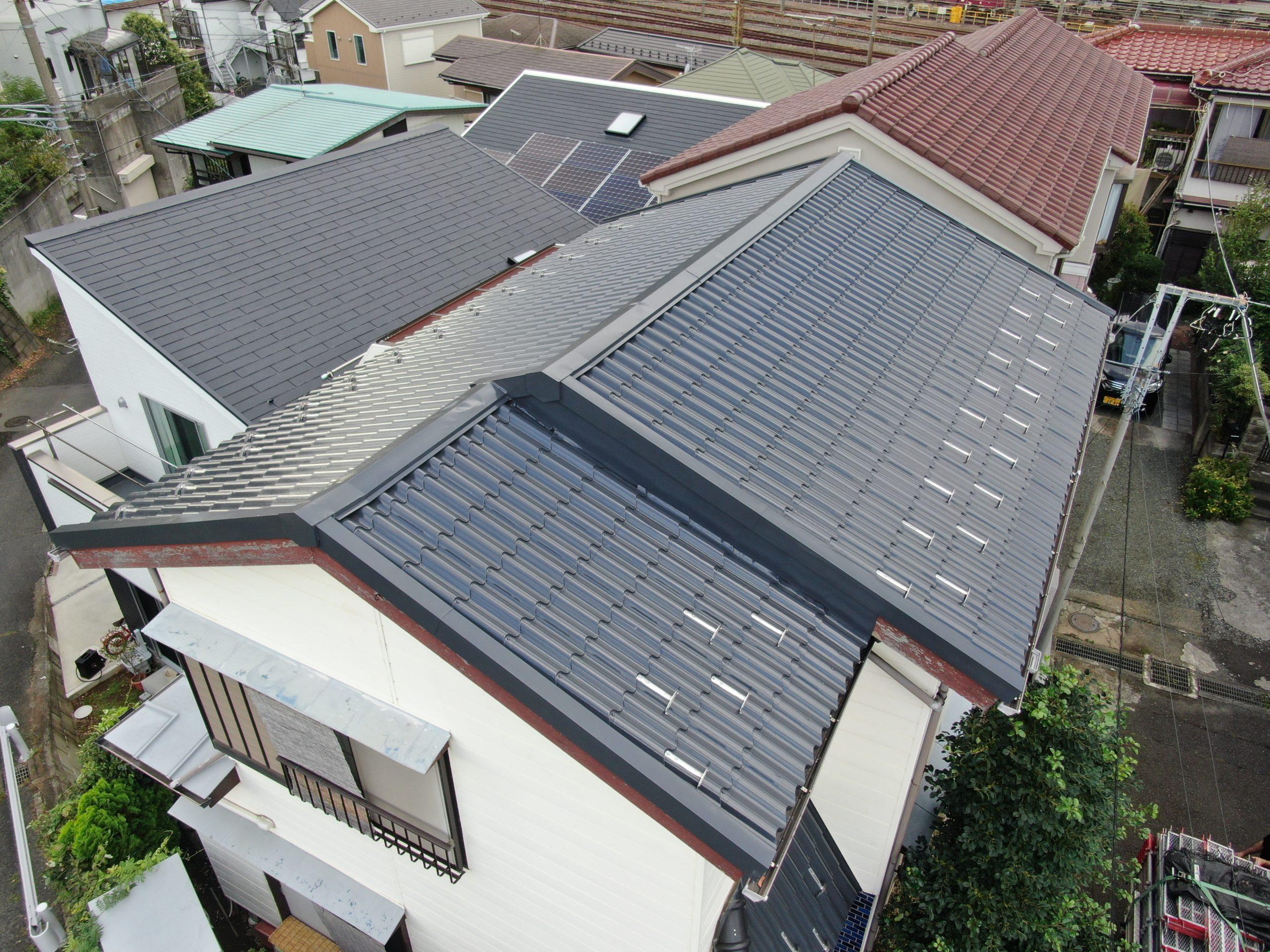 屋根塗装工事(遮熱フッ素プラン)