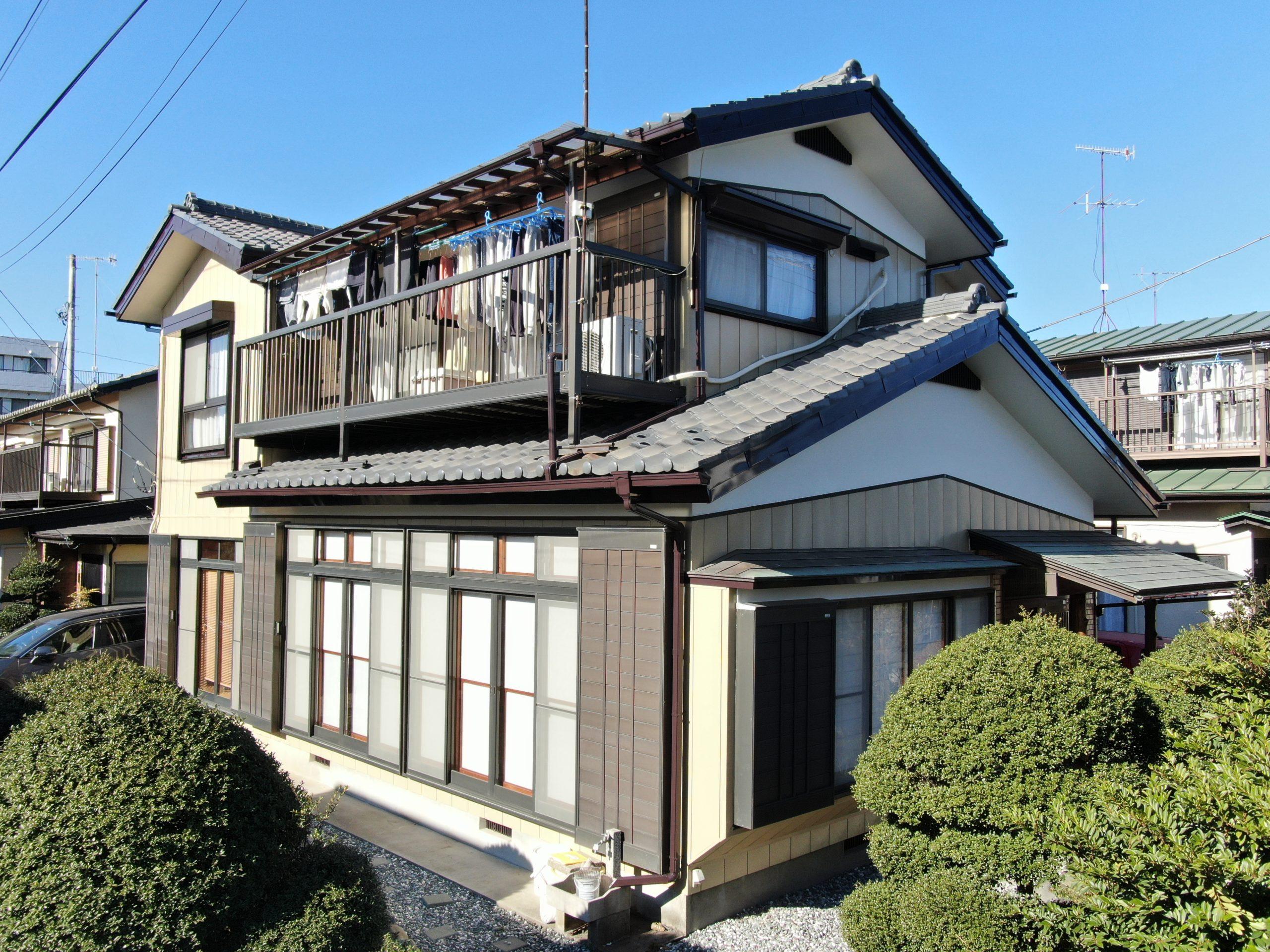 外壁塗装/屋根補修工事(遮熱ハイクラスシリコンプラン)厚木市愛甲東 N様邸
