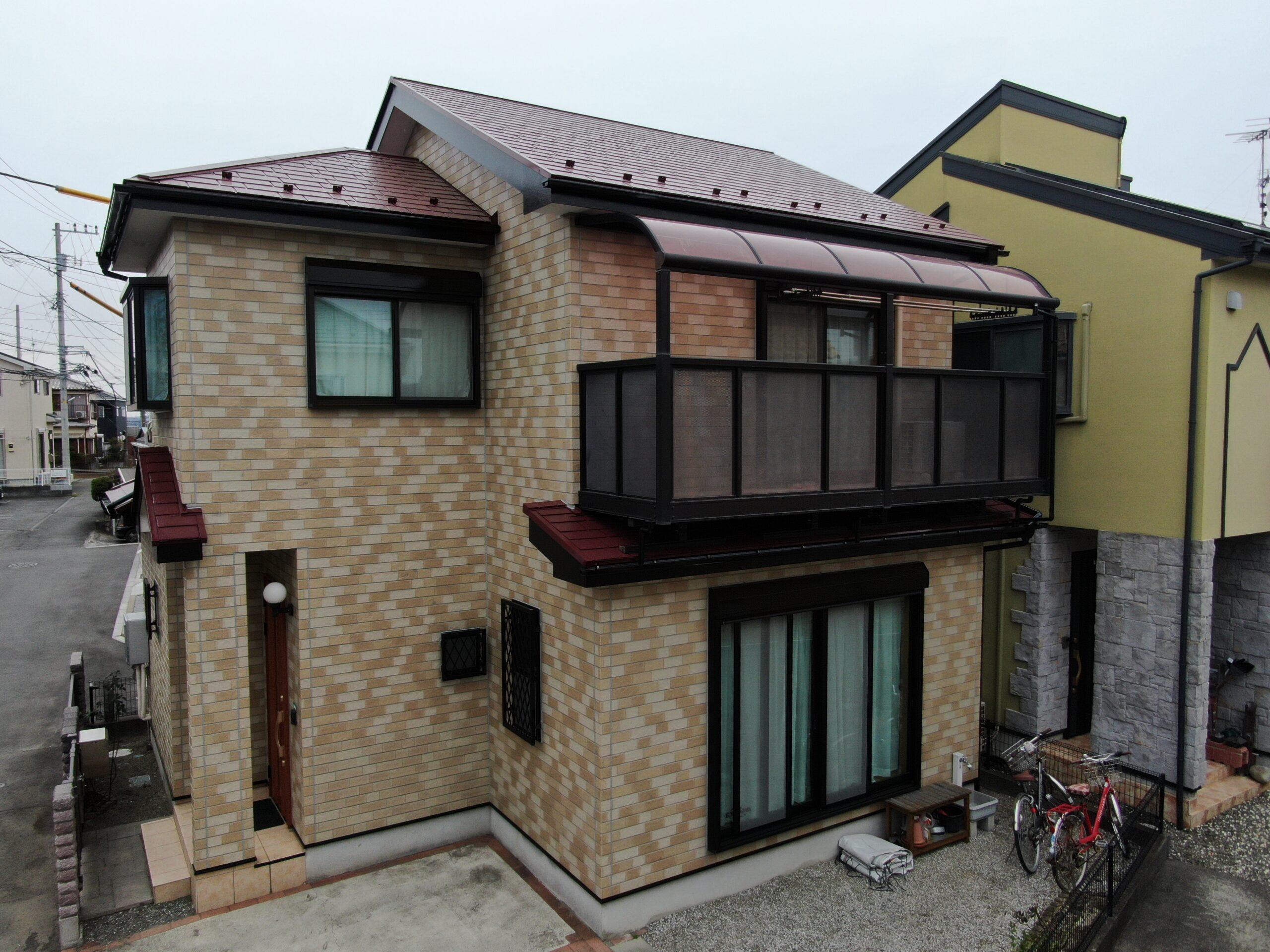 屋根・外壁塗装工事(無機クリヤープラン)厚木市戸室 H様邸