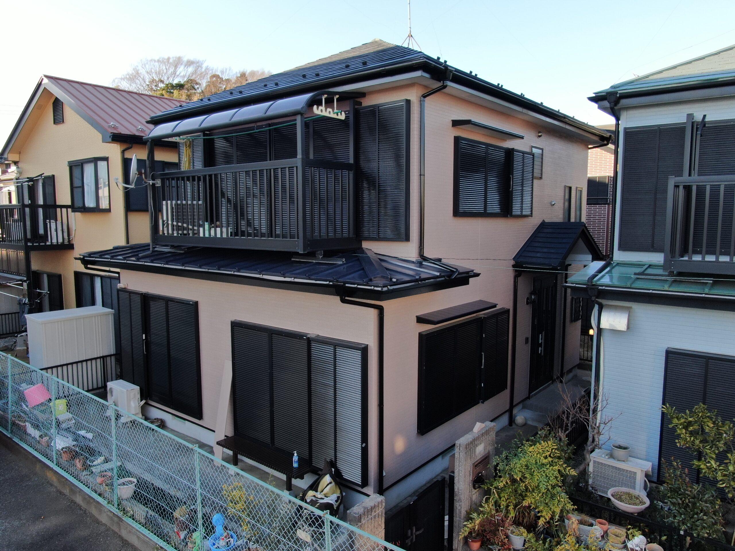 外壁塗装・屋根重ね葺き工事(遮熱フッ素プラン)厚木市長谷 H様邸