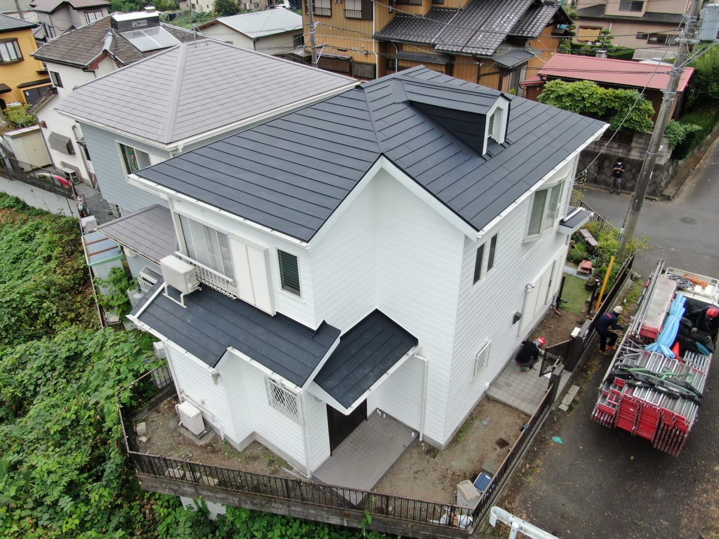 屋根重ね葺き・外壁塗装工事(遮熱ハイクラスシリコンプラン)愛川町半原 A様邸