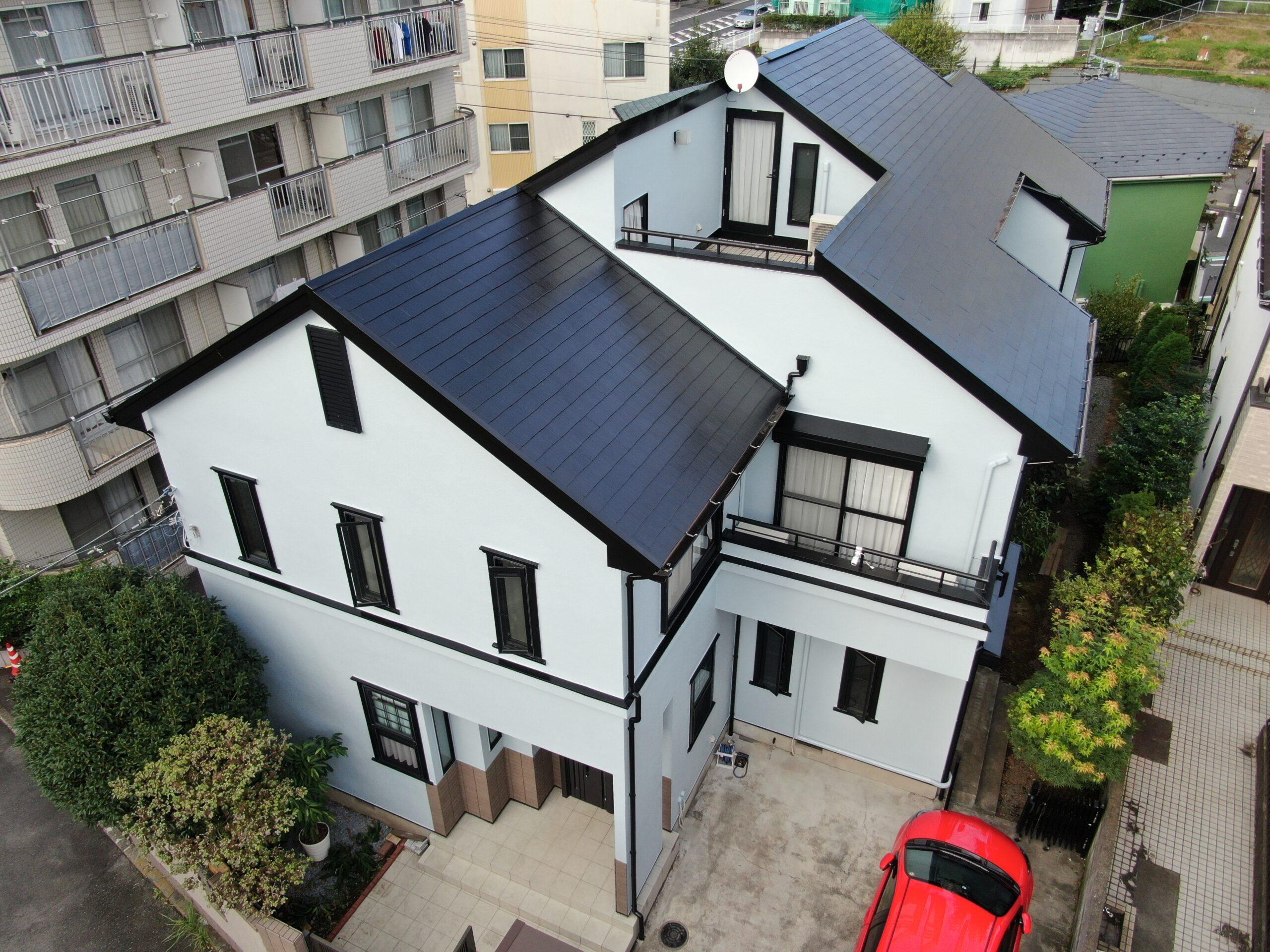 屋根・外壁塗装工事(遮熱ハイクラスシリコンプラン)大和市下鶴間 M様邸