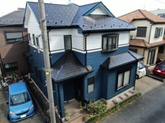屋根・外壁塗装工事(遮熱ハイクラスシリコンプラン)厚木市上依知 T様邸